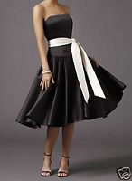BLACK EVENING/WEDDING/PROM/PARTY BALL GOWN DRESS SIZE 8