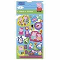 6 Sheets Peppa Pig Stickers Party Loot Bag Fillers