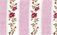 Cotton Curtain Upholstery Shabby Chic Floral Rose Pink