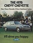 1978 Chevrolet Chevy Chevette Sales Brochure Book