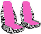 NEW**CAR SEAT COVERS IN ZEBRA PURPLE-BLK CENTER looks cool