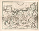 Northern Asia Map 1835 by Bradford Copper Engraving, Original, Antique Map,
