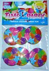 Badges - Balloon Theme Print, 38mm Pack of 6, Party Favours