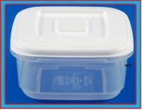 2.3L SQUARE PLASTIC FOOD STORAGE LUNCH BOX CONTAINER LID CANISTER FOOD STORER