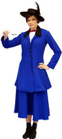 BLUE Victorian/Edwardian MARY POPPINS fancy dress Costumes ALL CHILD SIZES