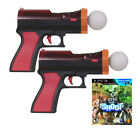The Shoot + 2x Motion Blaster Shooter Gun PS3 PS Move