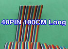40pin Pitch Color Ribbon Cable Conductors 100CM long for programming