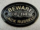 JACK RUSSELL BEWARE - HOUSE DOOR PLAQUE DOG SIGN COLLAR