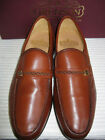 MENS GRENSON TAN COGNAC LEATHER SLIP ON MOCCASIN SHOE