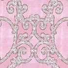 "COTTON 100% BEDDING BEDCOLTH FABRIC ANTIQUE DANDY BIG DAMASK PINK BROWN 44""W BTY"