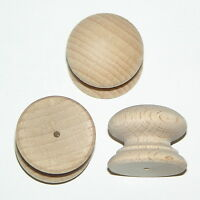 Pack of 10 small Drilled Wood Beech Knobs Handles 25mm