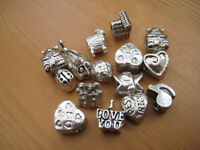 Charm Screw Stoppers for European Bracelets Assorted