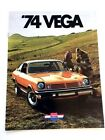 1974 Chevrolet Chevy Vega Original Sales Brochure Catalog