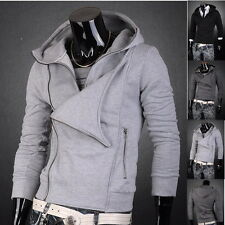 Jeansian Mens Hoodies Zip Slim Fit Jacket Tops Coats Shirts 3 Colors 4 Size 8005