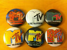 "MTV Buttons 1"" pins lot of 6 pinbacks vintage logo Beavis and butthead animation"