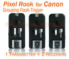 PIXEL ROOK F508 Flash Trigger for Canon with 2 Receivers 580EX II 430EX II 220EX