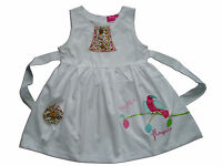 New Girls White Cotton Summer Party Dress 9-12 Months