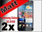 2 matt Schutzfolie Samsung Galaxsy S2 i9100 Display Folie Anti Glare Fingerprint