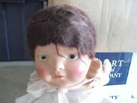 "BIG OLD 1920s Composition and Cloth Baby Girl Character Doll 26"" Tall"