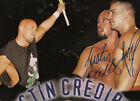 POS186 Justin Credible ,Lance Storm signed wrestling poster ECW w/COA