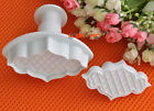 2x Fence Plunger Replaceable Cookie cutters cake Decorating Sugarcraft Xmas GIFT