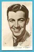 ROBERT TAYLOR.GOLDWYN MAYER PICTURES.REAL PHOTOGRAPHIC POSTCARD POSTED 1937