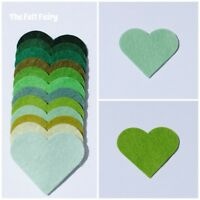 Felt Wool Blend 24 inch / 60cm Squares ~ Green Shades ~ Best Quality Felt Greens