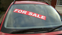 For sale Removable car sale window screen displays and slogans pack of 10