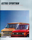 1988 Chevrolet Chevy Sportvan and Astro Van Original Sales Brochure