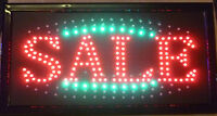 Sale Flashing Led Shop Sign Store Discount Big Drop Price Off Clearance Shop UK