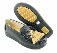 Ball Band W052 BLACK COMFORT ANTI SLIP Womens NURSE SHOES Light Weight Loafers
