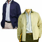 Henbury Cotton Twill Jacket Mens New H820 Full Zip Two Pocket Open Hem Superb