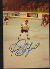 Fred Stanfield Signed Autograph 3x5 Old Timers Game