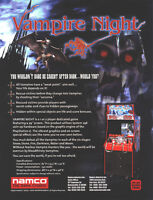 2001 NAMCO VAMPIRE NIGHT VIDEO FLYER MINT