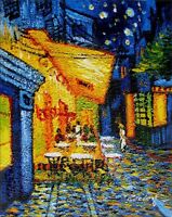 Quality Oil Painting Repro Van Gogh Café Terrace at Night 8x10in