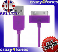 Purple USB Sync Charger Data Cable For iPhone 4 4G 4S 3GS 3G iPod Touch 5