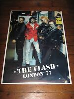 THE CLASH London 77 VINTAGE 1990s GIANT GO BANG POSTER!