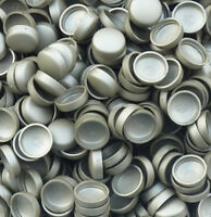SILVER GREY, TWO PIECE DOME SCREW CAP COVERS SNAP CAPS PRO-DEC FIXINGS