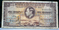 1937 Bermuda Government 5 Shillings  King George