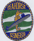 USS Seahorse SSN 669 - Crest BC Patch Cat No B704