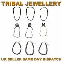 MENS TRIBAL JEWELLERY AFRICAN INSPIRED BRACELETS AND NECKLACES WOOD BEADS BOYS
