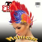 MOHICAN SPIKE WIG BLACK BROWN BLUE BLONDE GREEN LILAC PINK ORANGE PLUM RED WHITE