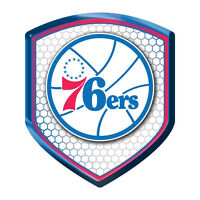 Philadelphia 76ers Sixers SHIELD Reflector Emblem Decal Basketball Auto Home