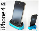 Apple Iphone 4s Dock Docking station Lade station in Blau (2334-Blau)