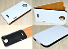 White Genuine Leather Real Leather Flip Phone Case Cover Skin for HTC One X XL