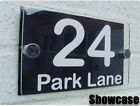 MODERN HOUSE SIGN PLAQUE DOOR NUMBER STREET