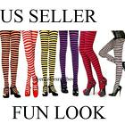 Sexy Plus Size Fun Look Gothic Opaque Striped Tights OS Queen XL 1X 2X lingerie