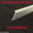 T PROFILE CHANNEL SHOWER SCREEN SEAL SIDE SEAL FOR FOLDING STRAIGHT GLASS