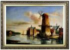 Framed Quality Hand Painted Oil Painting, Holland 24x36in