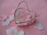 pretty wire metal basket for flower girl bridesmaid table arrangement favours